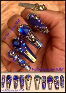 jeanie's bottle in 2020  acrylic nail designs bling