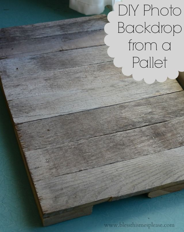 DIY Photo Backdrop from a Pallet | Place mats, Cookie sheets and ...