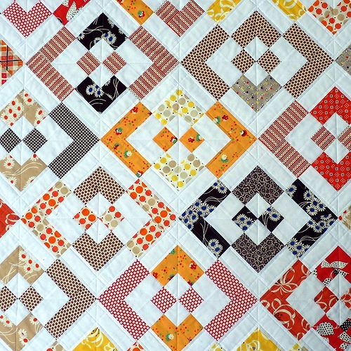 Katie Patchwork Quilt: Red Pepper Quilts: Katie Jumpe Rope Quilt