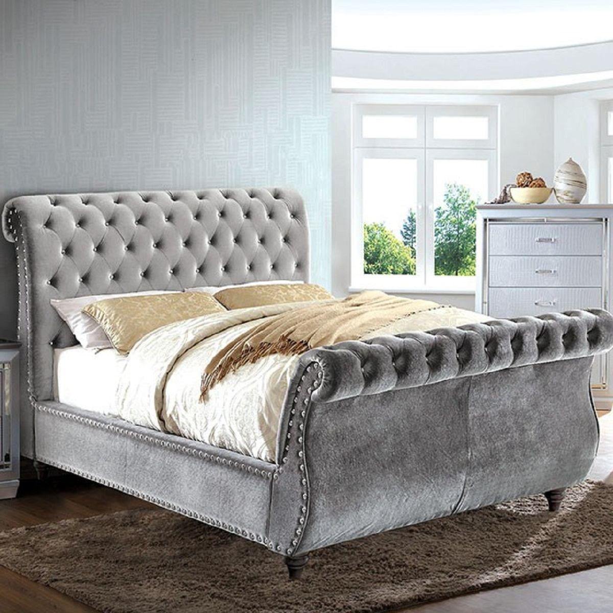 Furniture of America Noella California King Sleigh Bed in