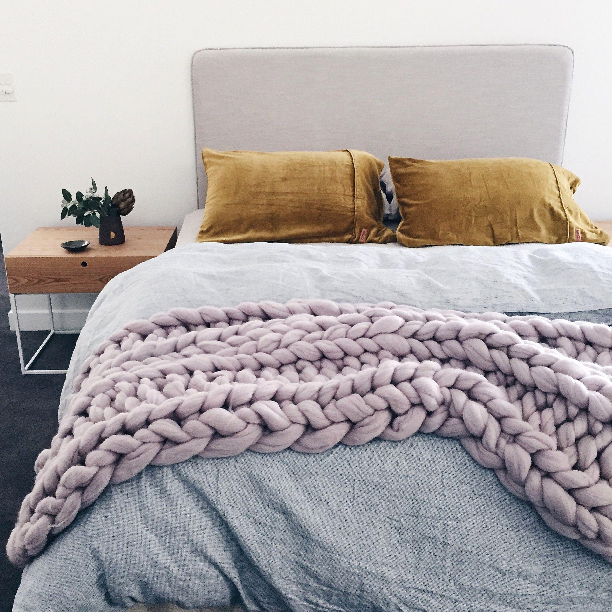Lilac Chunky Knit Throw Bedroom Ideas Bedroom Decor Room Decor