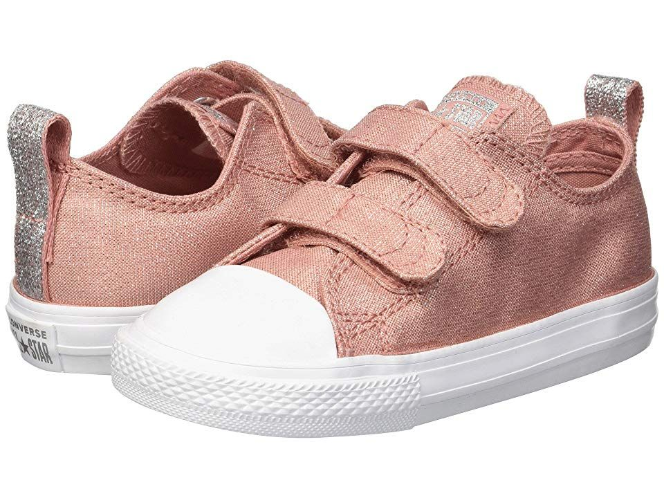 831d99fa9cbb Converse Kids Chuck Taylor(r) All Star(r) 2V Ox (Infant Toddler) (Rust  Pink Rust Pink White) Girls Shoes. Expect nothing but the best- nothing  less - from ...