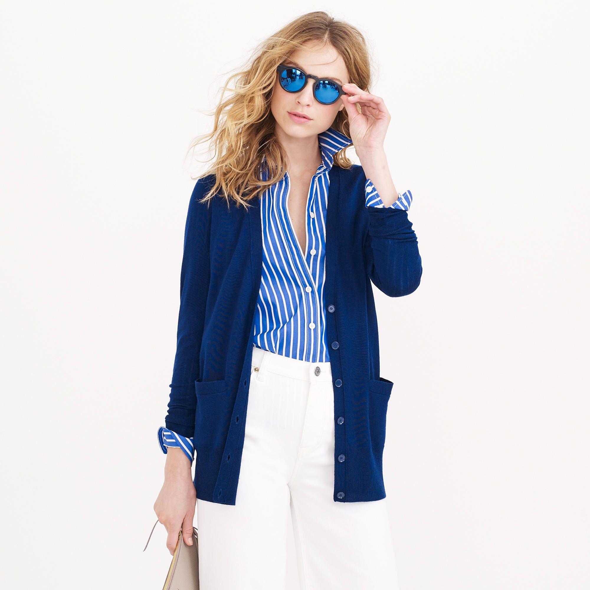 CLASSIC MERINO WOOL LONG CARDIGAN J. CREW | Style | Pinterest ...