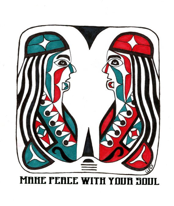 Two Selves by NativeWorldPrints on Etsy