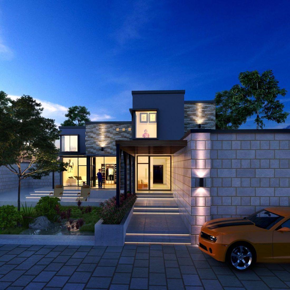 32. Villa Free Sketchup Exterior Scene in 2020 House