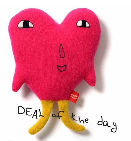 Deal of the day / donna wilson / hear pillow Lovey