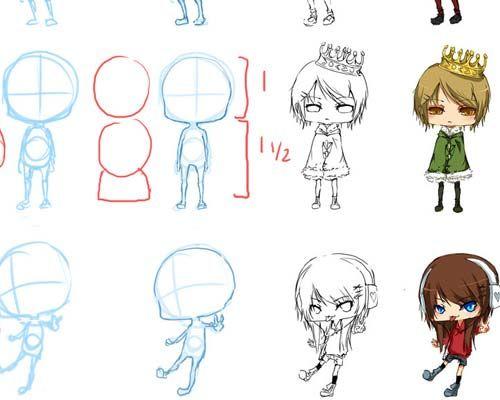 Useful Chibi Style Anime Drawing Tutorials Ninja Crunch Drawing Tutorial Chibi Girl Drawings Anime Drawings
