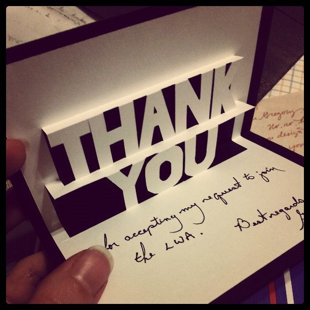 Handmade, pop-up thank you card. | Flickr - Photo Sharing!