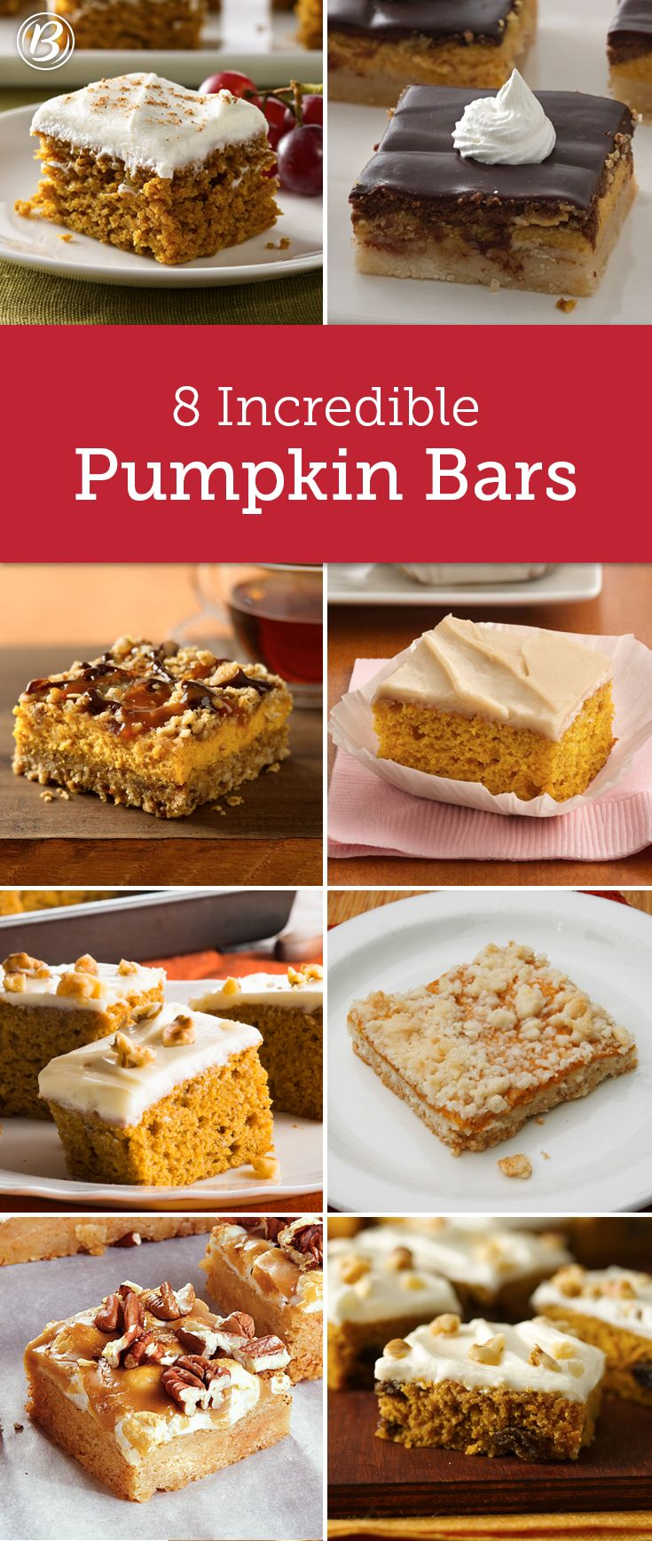 If there's one thing we cant get enough of every fall, it's this collection of Betty's best-ever pumpkin bars!