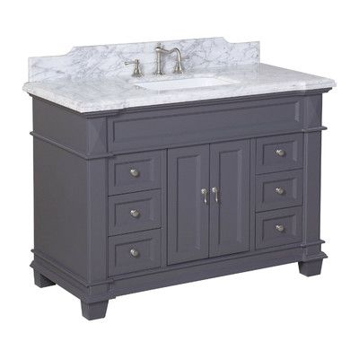 "Kbc Elizabeth 48"" Single Bathroom Vanity Set & Reviews  Wayfair Inspiration Bathroom Cabinet Reviews Review"