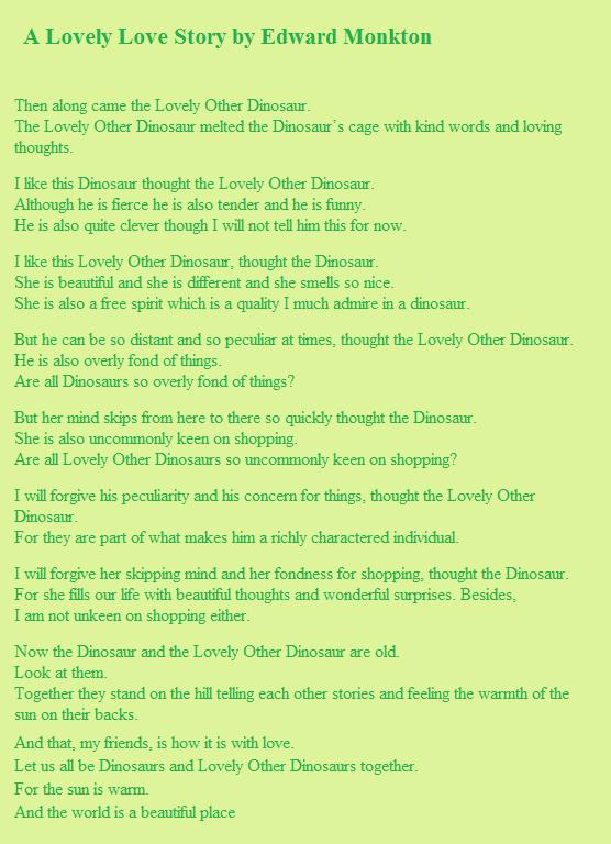 A Lovely Love Story By Edward Monkton Reading 28 08 15 Pinterest
