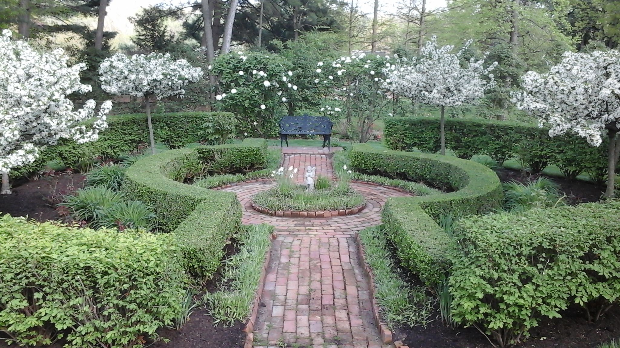 Formal English Garden Hedges Of Boxwoods And Burning Bushes Frame Beds Of Perennials Roses And Other Flowe French Garden Design Garden Design Garden Hedges