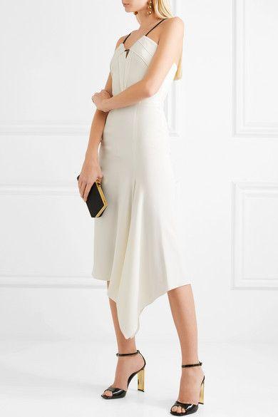 Fazeley Paneled Crepe Dress - Off-white Roland Mouret Cheap Sale 2018 Unisex Outlet Store Cheap Online Great Deals Online 18nUcP0