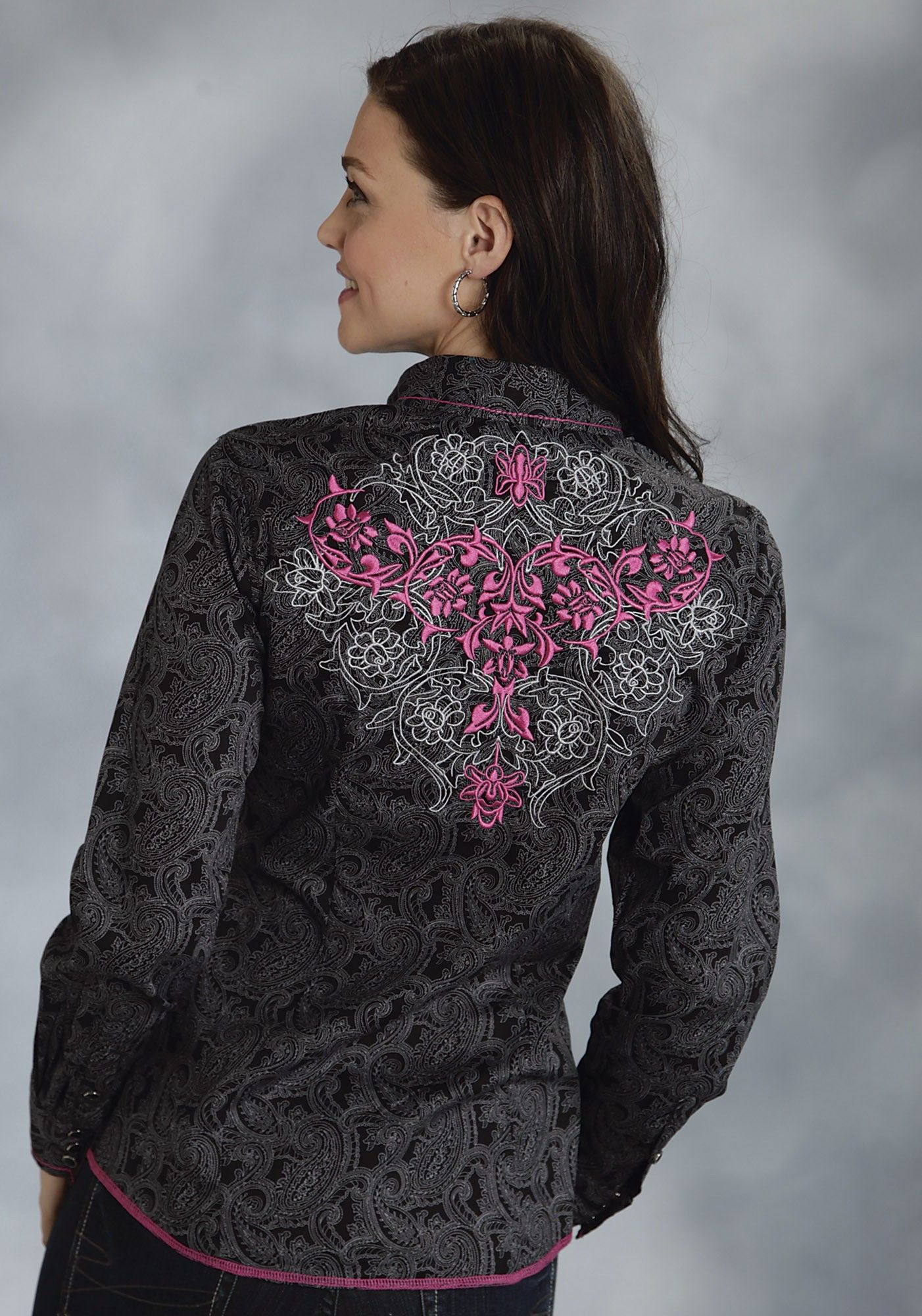 fd9c60f2 Womens Embroidered Western Shirt Shop Style