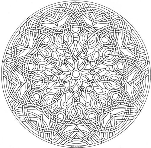 Celtic Mandala Adult coloring Free printable and Celtic mandala