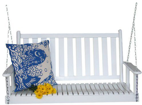 August Grove Janelle Wrightsville Hanging Porch Swing with Chain