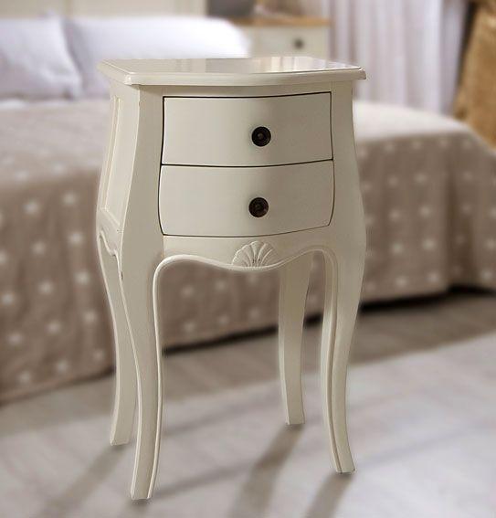 Mesa de Noche 2 cajones París acabado blanco | pieza niños ...