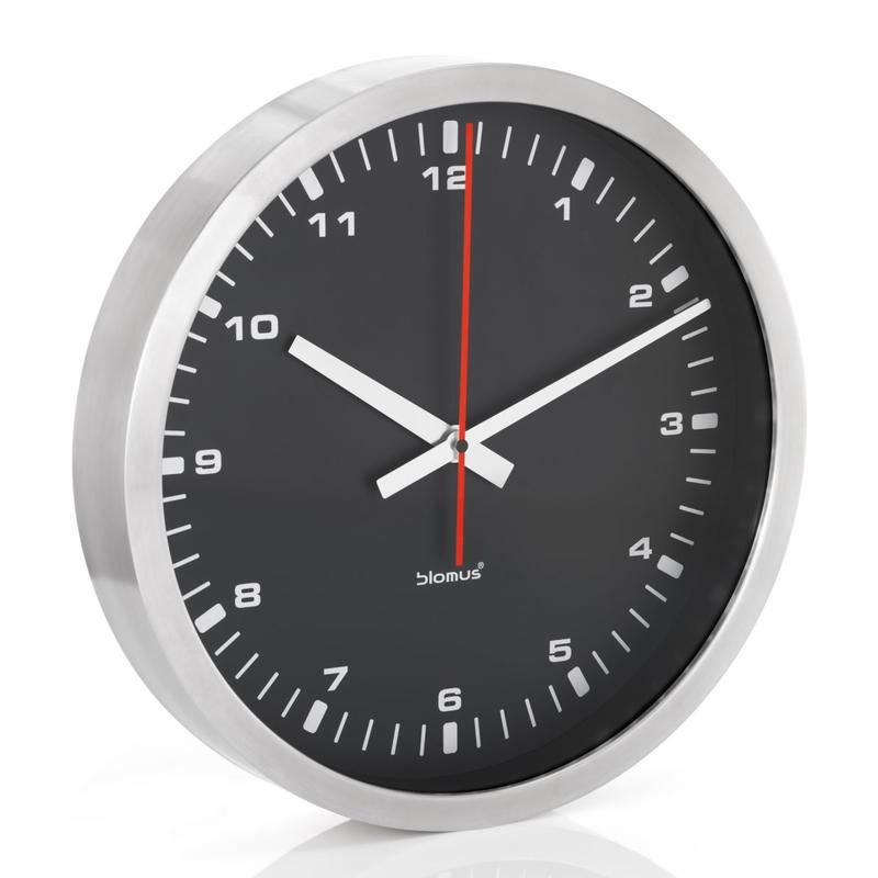 The Blomus Stainless Steel Wall Clock Is Made With A Simple Design So It Is Easy To Read It Uses Quartz Movement Small Wall Clock Wall Clock Large Wall Clock