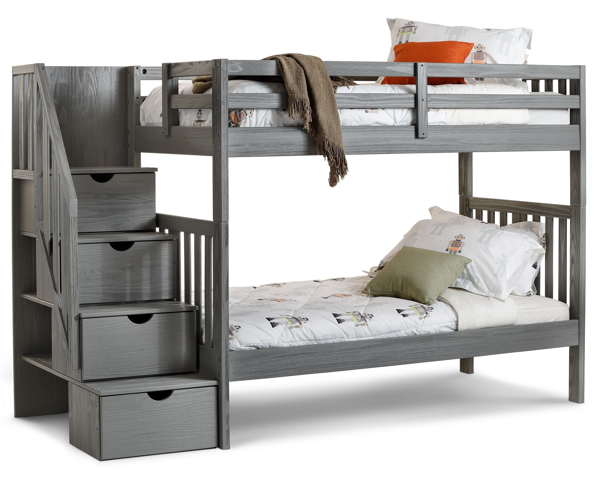 Dove Bunk Bed With Staircase Herreria