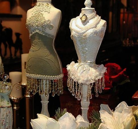 decorative corset pieces  vintage dress form mini dress