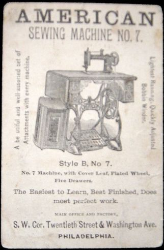 40 Back American Sewing Machine Compay Pinterest Custom Arch Sewing Machine Co Philadelphia Pa