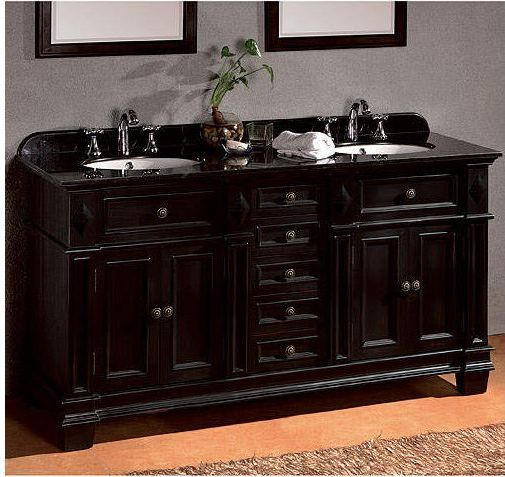 Essex Double Vanity With Black Granite Countertop Sam S Club Bathroom Sink Vanity Double Sink Bathroom Bathroom Vanity
