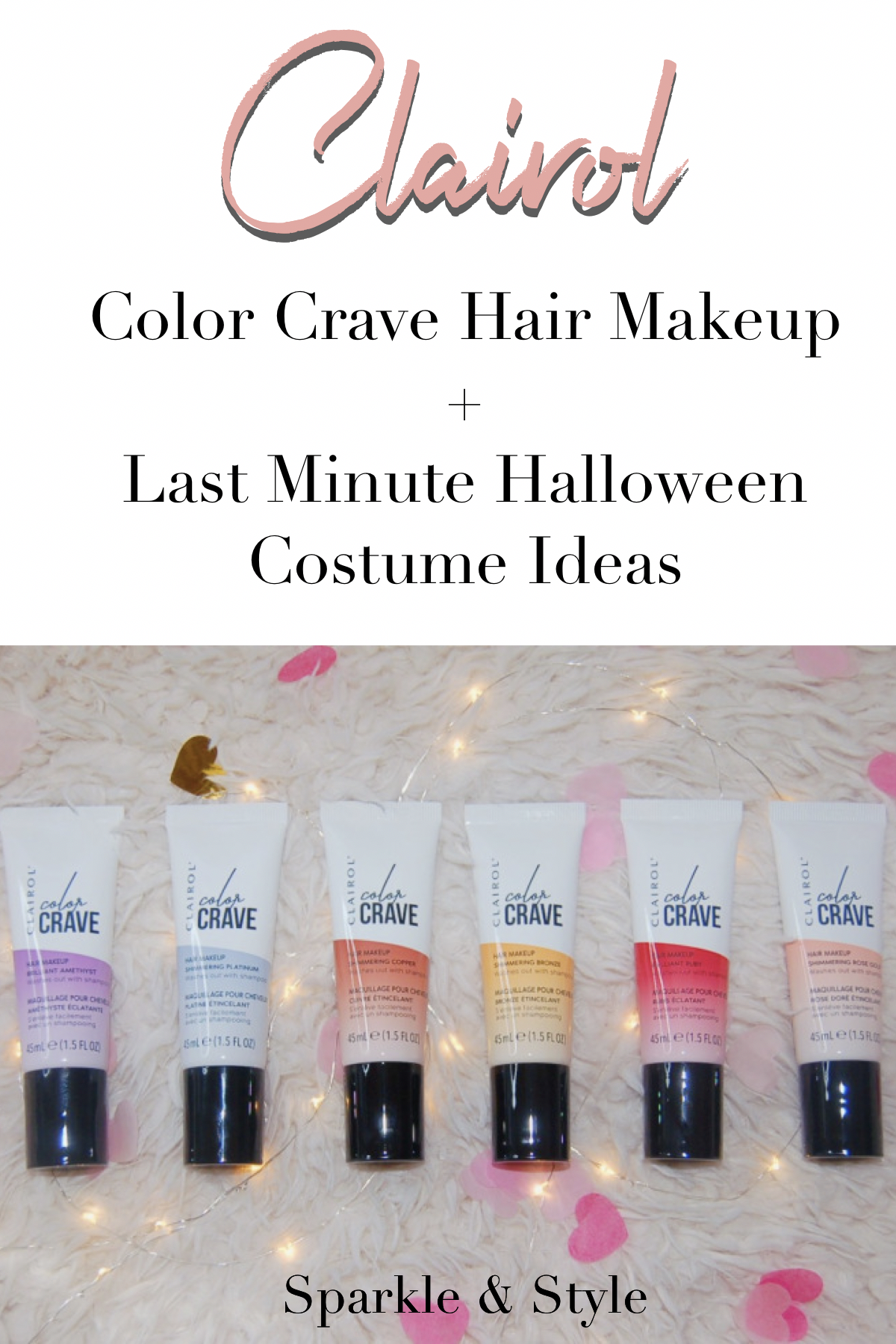 Clairol Color Crave Hair Makeup & LastMinute Halloween
