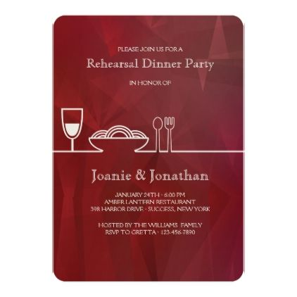 Dinner Party Invitation birthday gifts party celebration custom