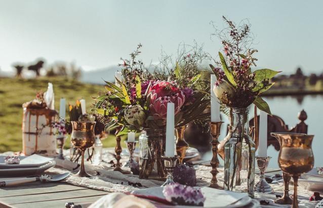 Dear Indie. WHITE MAGAZINE. Wild Hearts. Balencia Lane. Table setting. Naked cake. Boho luxe bride. NZ Bride.