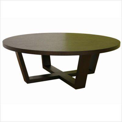 Baxton Studio Round X Base Oak Cocktail Table W Black Finish By Wholesale Interiors 399 17 Black Stained O Coffee Table Round Coffee Table Coffee Table Wood