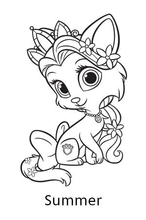 Disney S Princess Palace Pets Free Coloring Pages And Printables Malarbocker Malarbok Illustration