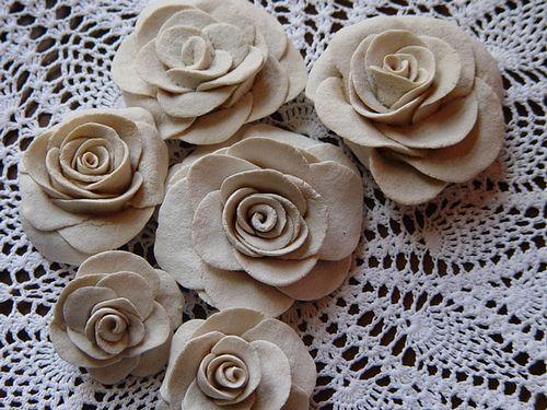 Salt dough roses