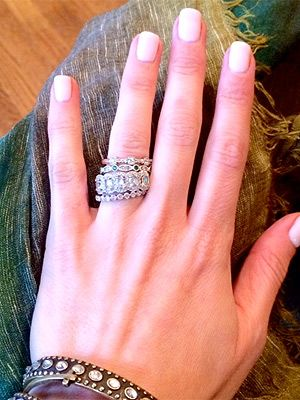 Bon The Thick Wedding Band Style   (Emily Maynard Went For Nontraditional  Engagement Ring(s)