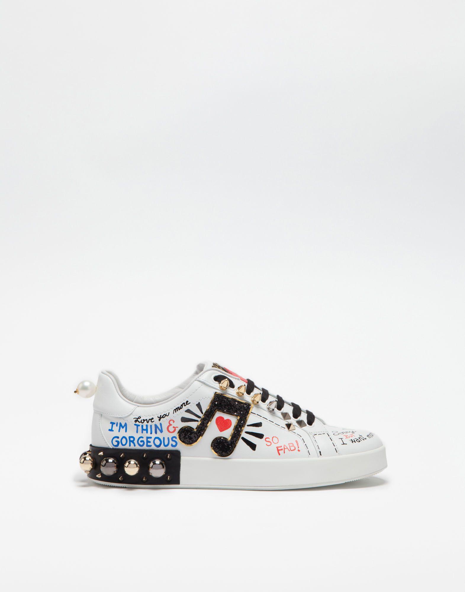 Portofino embellished leather sneakers Dolce & Gabbana xiTAj5Z
