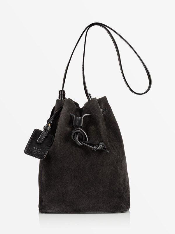 f6bb3481afbc3 ATP Atelier bucket bag Madeleine Black suede #atpatelier #aw16 #madeinitaly  #bucketbag