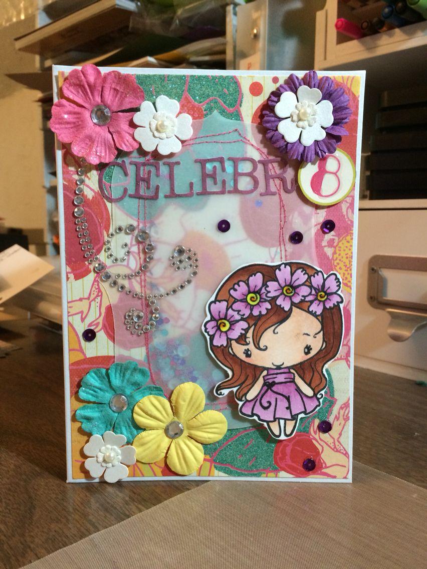 8 Year Old Girl Birthday Card Birthday Cards Girl Birthday Cards Kids Cards