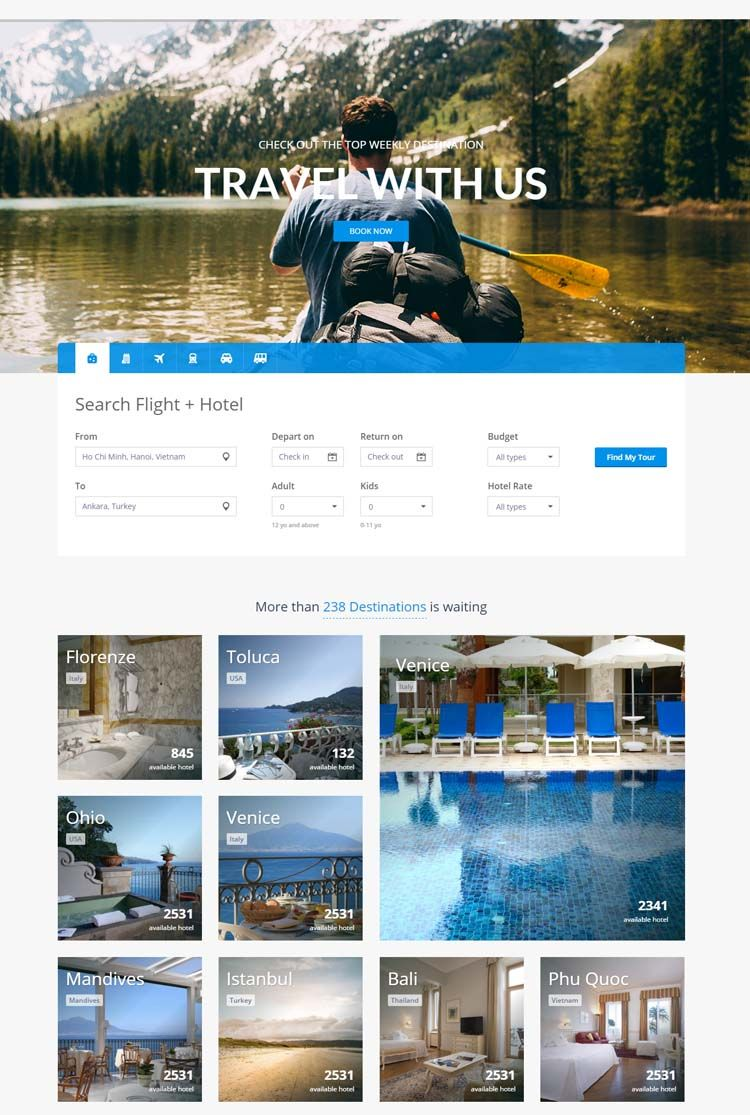 10 Best Hotel Website Templates for Hotel and Travel Booking Sites ...
