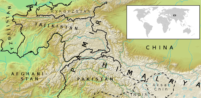 Hindu Kush Map Locati on