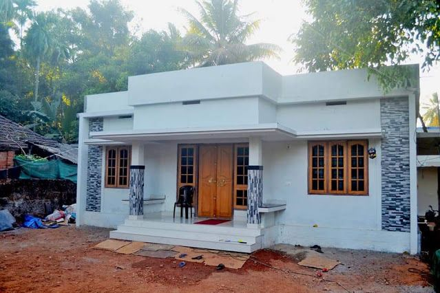 Below 650 Sqft 2 Bedroom Home Constructed Under Pmay Scheme With Free Plan Free Kerala In 2020 Free House Plans Small House Design Plans Small House Elevation Design