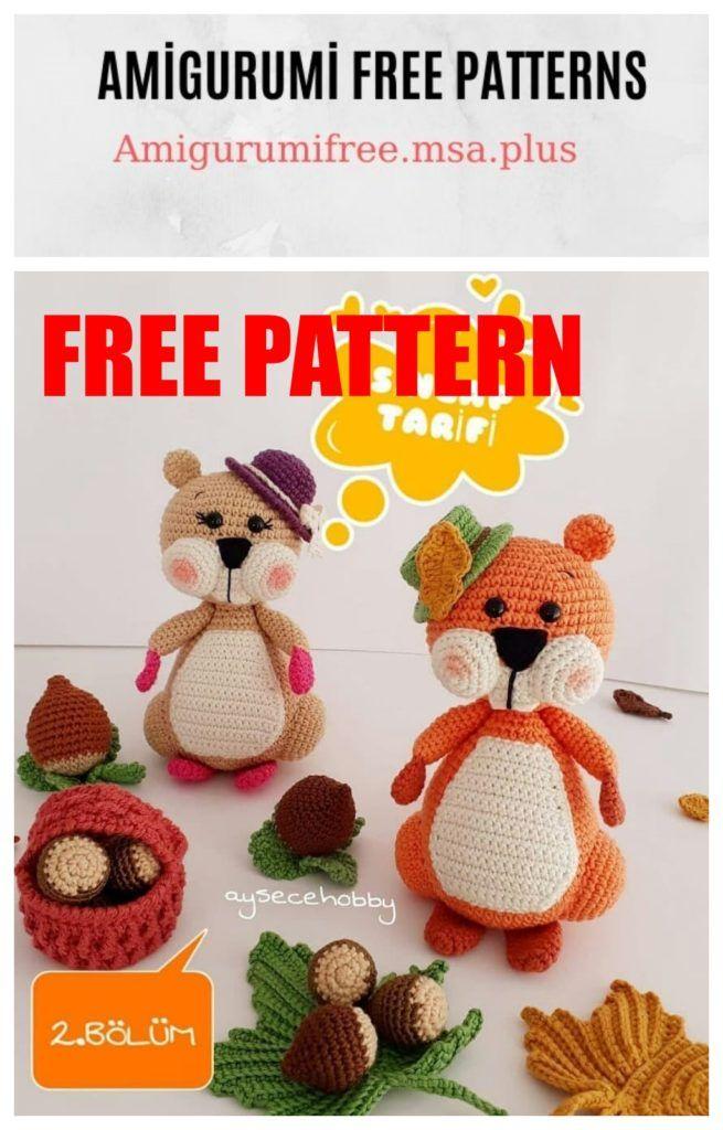 Amigurumi Piglet Free Crochet Pattern   Padrões de animais de ...   1024x655