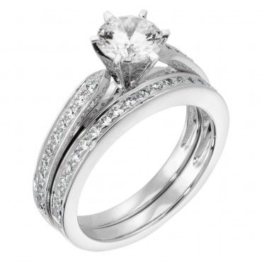 The True Love engagementring and band wedding jewelry the rings