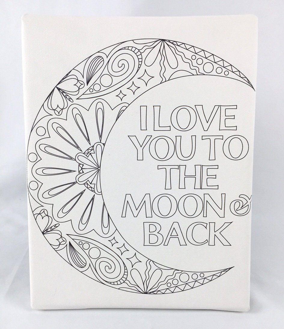 Amazon Com Adult Coloring Canvas Mandala Print 8 X 10 With