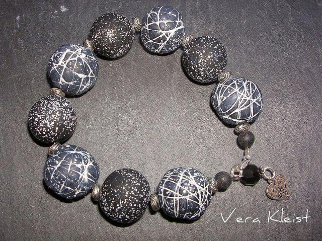 Stones from the dark side of the moon by beadingvera - Schmuck Ideen Gestaltung, via Flickr
