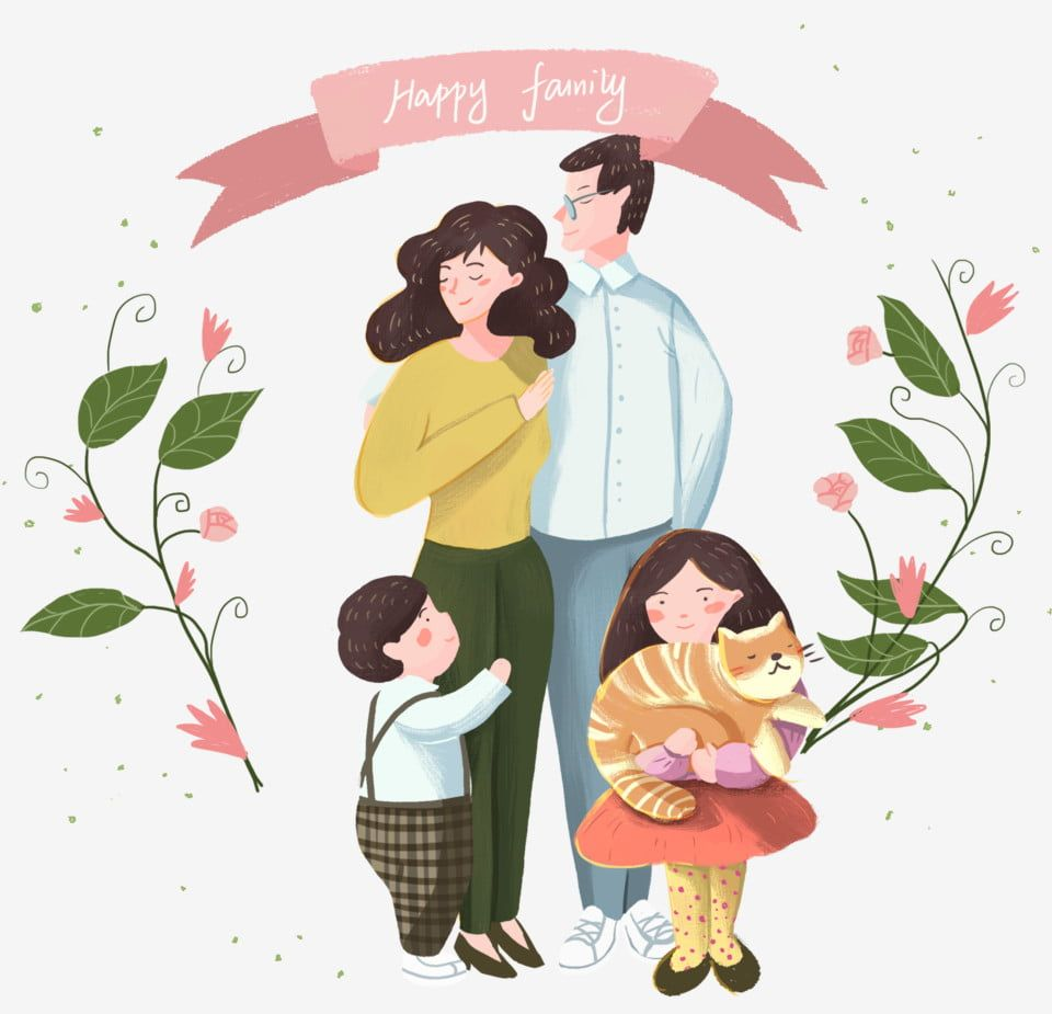 Happy Family Portrait Fresh Illustration Banner Happy Family Portrait Family Clipart Illustration Banner Png Transparent Clipart Image And Psd File For Free Family Cartoon Portrait Cartoon Mom Art