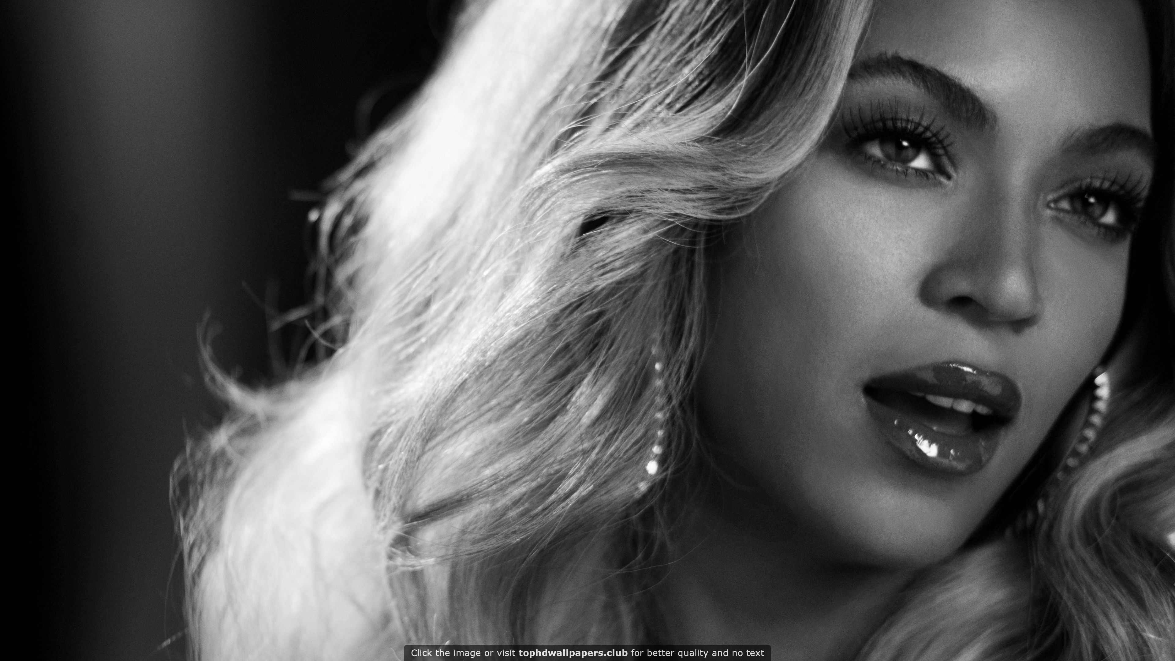 Beyonce in Black and White HD wallpaper for your PC, Mac
