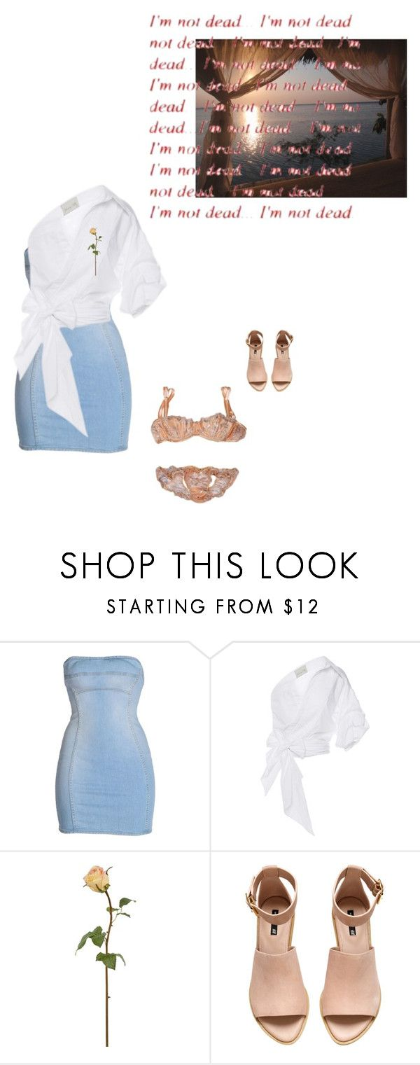 """i'm not dead"" by eotirka ❤ liked on Polyvore featuring Dsquared2, Johanna Ortiz, Damaris and H&M"