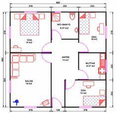 100m2 Ev Planları   Googleu0027da Ara
