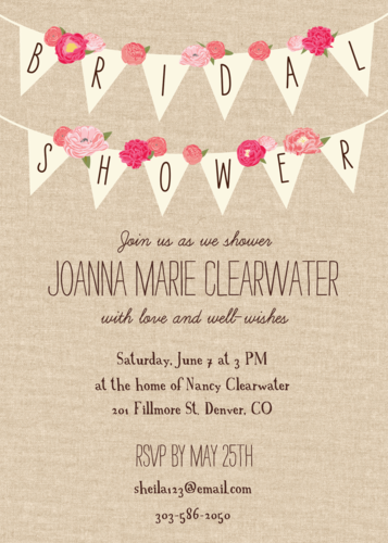 rustic banner bridal shower invitation paper source