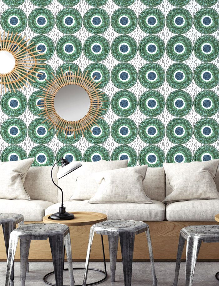 papermint un vent de fra cheur sur le papier peint. Black Bedroom Furniture Sets. Home Design Ideas