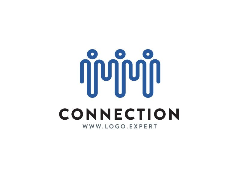 Connection Logo Design Logo Design Points Dots Human Network